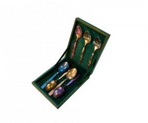 Набор ложек титановых Радуга в подарочной коробке