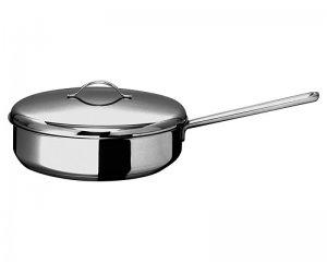 Сковорода 240мм Гурман - Классик из нержавеющей стали с тройным дном с крышкой