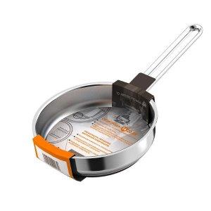 Сковорода 200мм Гурман - Классик из нержавеющей стали с тройным дном, без крышки